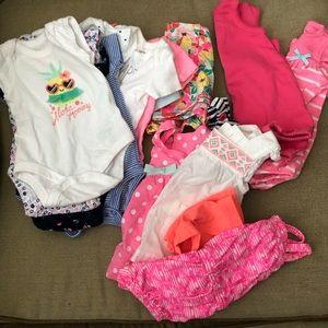 18 piece lot of newborn girl spring/summer clothes